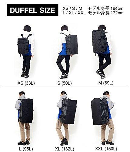 ノースフェイスのダッフルバッグのサイズ比較生活用品