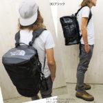 ノースフェイス・ダッフルバッグのサイズ比較生活用品 3